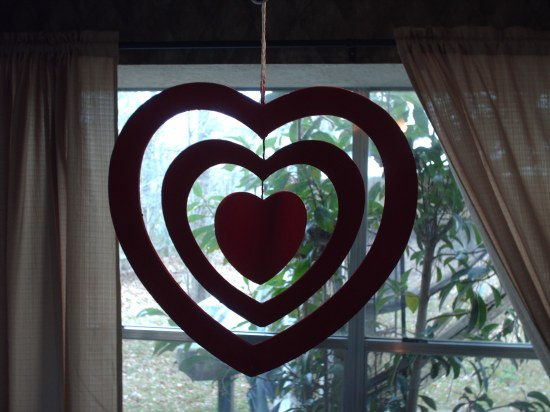 wooden heart cutouts